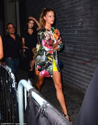 Another model friend: Rihanna was seen strutting into Up and Down Nightclub the West Village while Leo arrived just ten minutes later with a group of pals, including another rumoured flame, model Nina Agdal