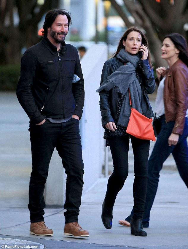 Keanu Reeves Cant Contain His Smile As He Attends LA