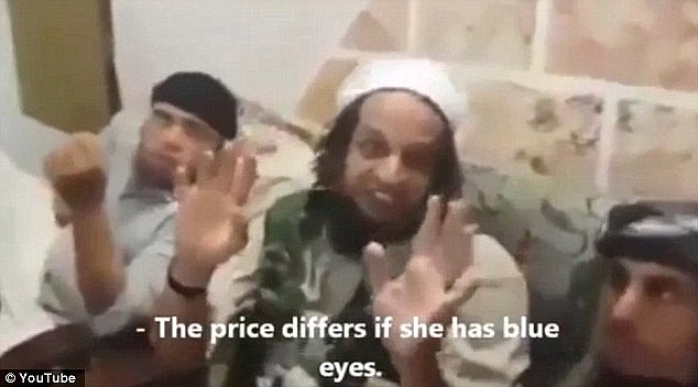 The militant says he is willing to pay more if the girl has blue eyes