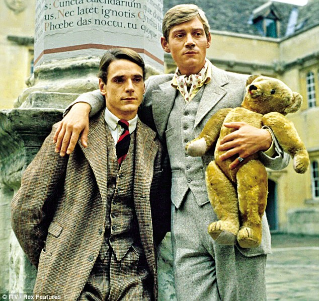 Irons with Anthony Andrews in Brideshead Revisited, 1981. 'I just didn't fit in. It wasn't that I didn't have the manners – there's a sort of unspoken code among people in that world, which I want to kick at,' he said