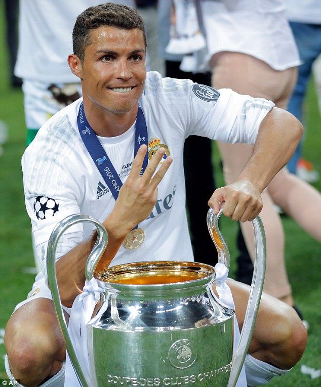 Cristiano Ronaldo won the Champions League for the third ...
