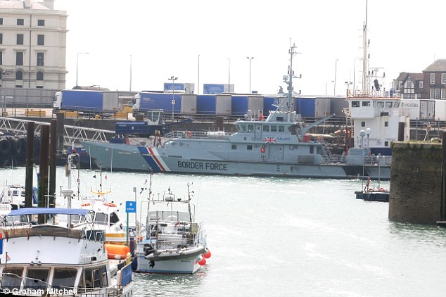 The migrants were then taken to Dover, Kent, and are being interviewed by Border Force officers