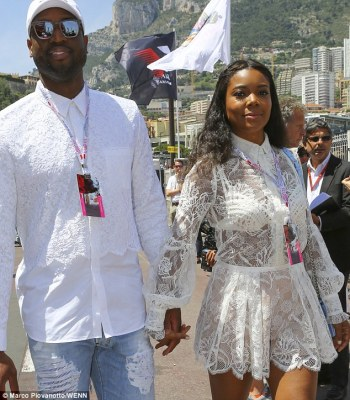 Look at me! The two were at the race in Monaco,which is along France¿s Mediterranean coastline