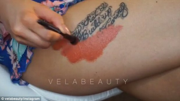 Clever cover up: Make up vlogger Vela Beauty showed how you can cover a tattoo using products