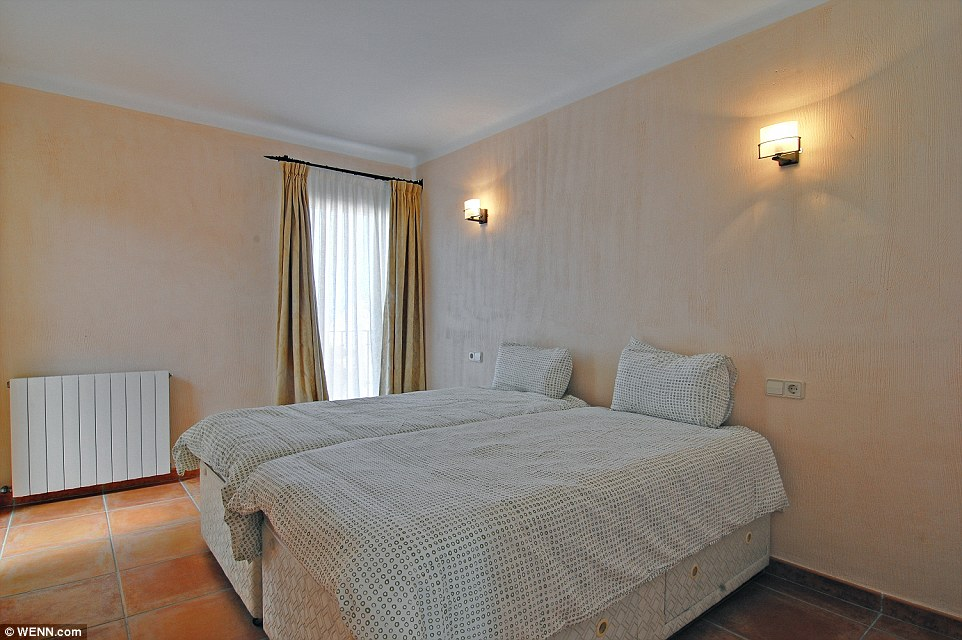 Typically Spanish: The bedrooms feature high walls and stone floors