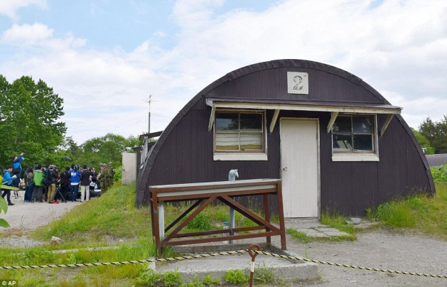 This is the building in a military drill area where Yamato stayed for six days as searchers looked for him