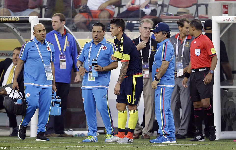 The withdrawal of the Real Madrid forward was most probably a precaution as Colombia bossJose Pekerman prepared for future games