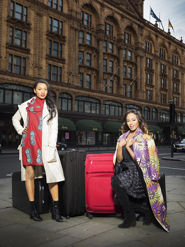 Nigerian sisters Temi, left, and Cuppy love London because they are shop at Harrods and spend time in private members clubs