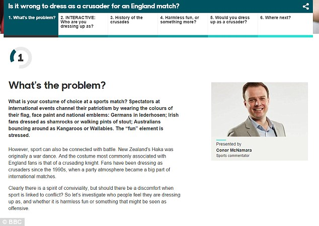 The BBC article, placed on the iWonder section of its website, asked whether the practice was offensive