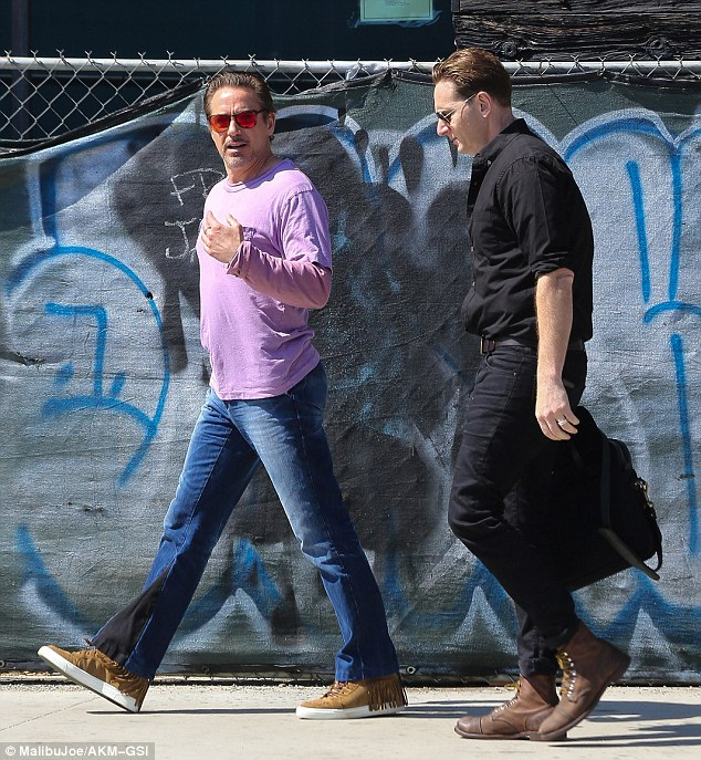 Robert Downey Jr Doubles Up With Two Lilac Shirts In The