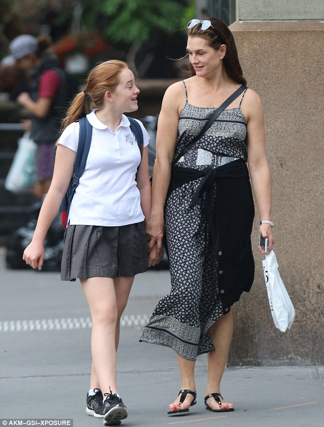 Brooke Shields Shares A Giggle With Daughter Rowan As They