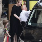 Adele Spotted With Son Angelo in Verona