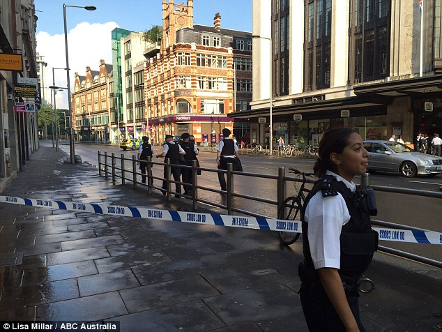 Hundreds of commuters were evacuated from Kensington Palace Gardens and High Street Kensington (pictured) this evening after a 'suspicious vehicle' was discovered outside the embassy