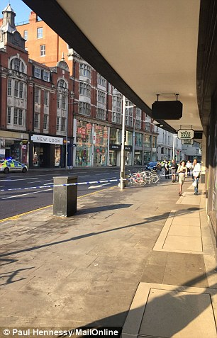 A normally busy High Street Kensington was brought to a standstill