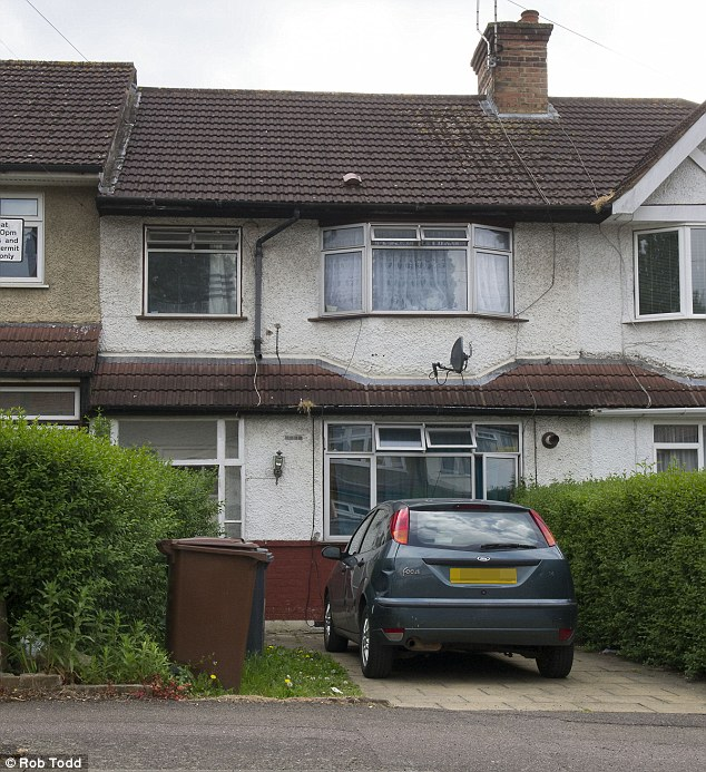 Hideout: Metra's home Borehamwood, Hertfordshire where the Mail tracked him to
