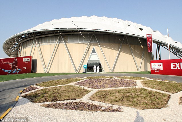 One of the  stadiums under construction in Doha as Qatar prepares to host the FIFA World Cup in 2022