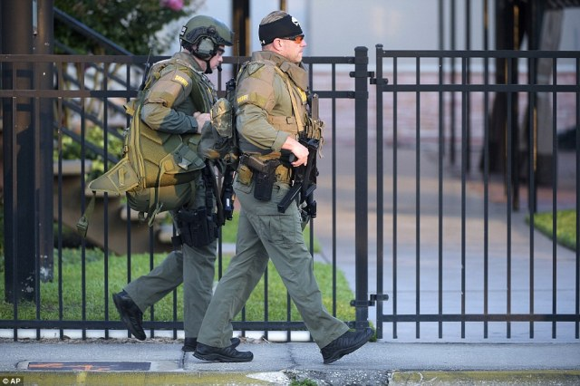 SWAT: Orange County Sheriff's Department SWAT members arrive at the scene of the fatal shooting at Pulse Orlando nightclub in Orlando