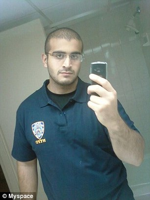 Mateen (above) killed 49 people in the gay club Pulse and injured 53 others before being shot dead