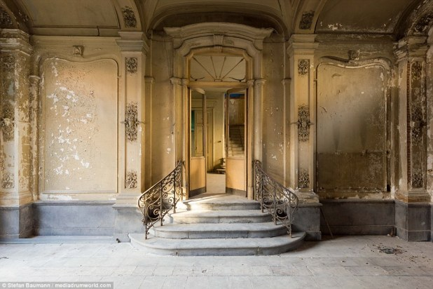 This abandoned home in Belgium, unoccupied for several centuries, was last used as an administration building