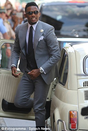 The ex-Cameroon star got married in Stezzano