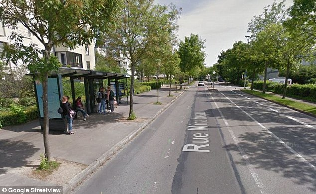 According to local media, he attacked the girl while she was waiting for a bus on Rue Mirabeau (pictured)