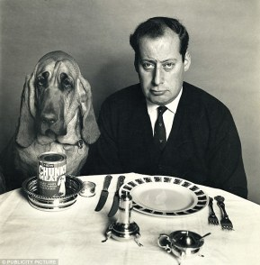 Freud, right, earned £750,000 in today's money for an advert for dog food with Henry the Bloodhound, left