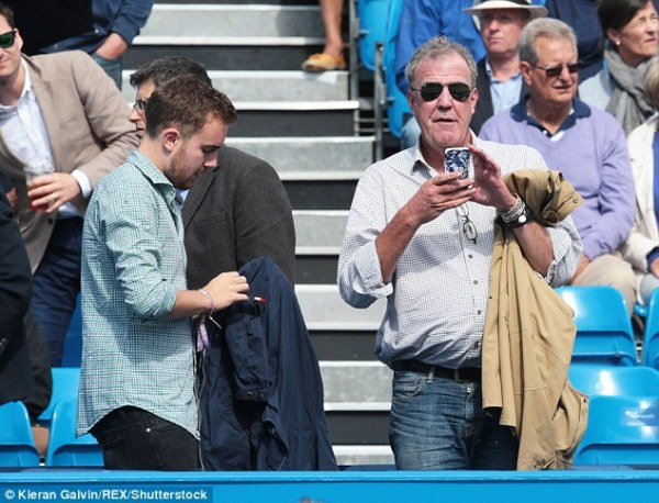 Jeremy Clarkson attends Queen's 2016 with son Finlo ...