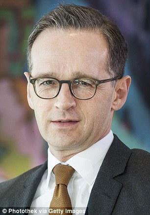 Crackdown: German justice minister Heiko Maas