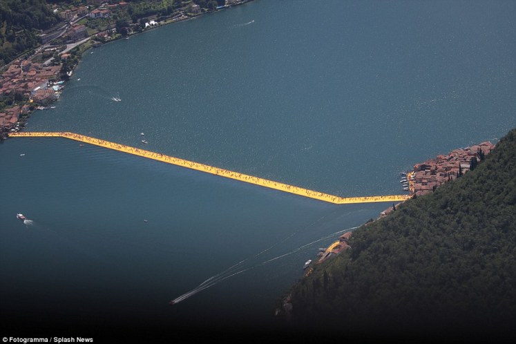 The most eager fans of Bulgarian-born US artist Christo, as he is universally known, camped out the night before the attraction opened to be the first to step onto the three kilometre (1.9 mile)-long runway