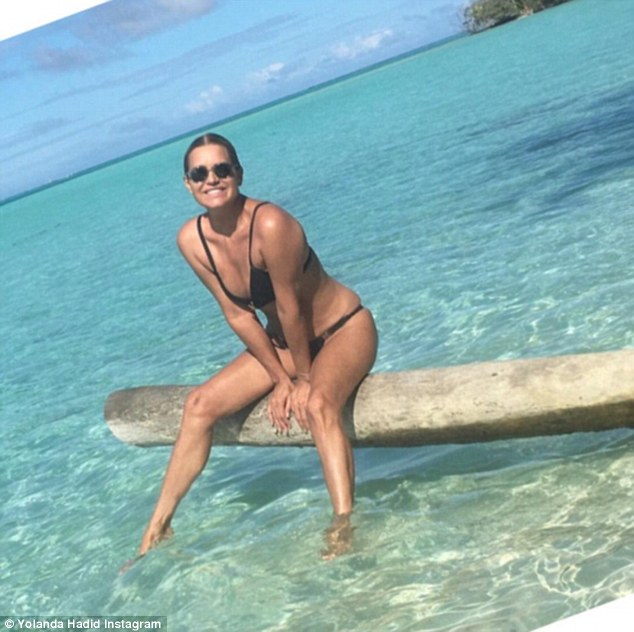 Flawless: It appears Yolanda Hadid is still in vacation mode, taking to Instagram on Monday to officially welcome the start of summer while reminiscing on a few cherished memories