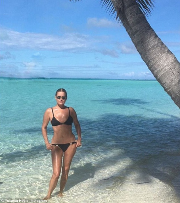 What a body! Yolanda Hadid gave her model daughters a run for their money, as she showed off her toned and tanned figure in a stunning Instagram shot