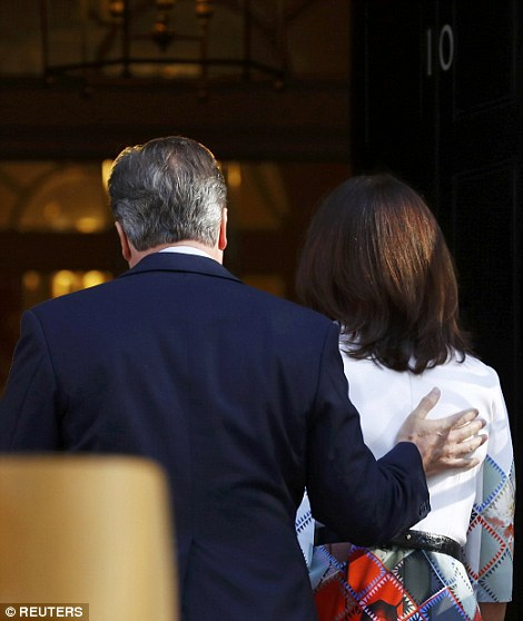 The couple walked into Downing Street together as he contemplated the end of his premiership