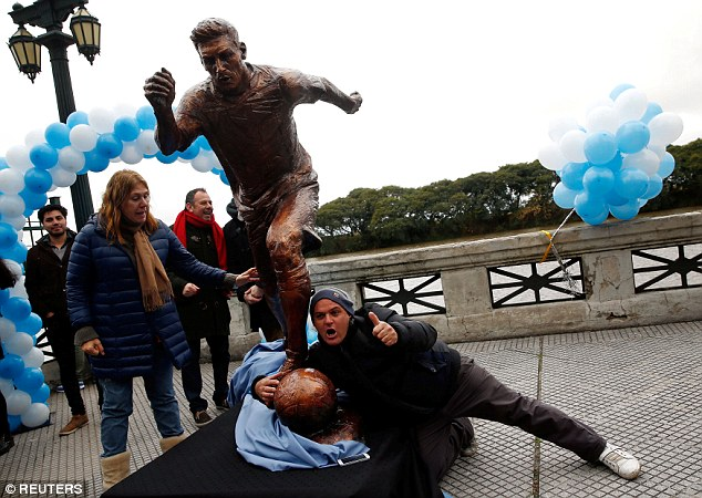 Image result for messi and his sculpture
