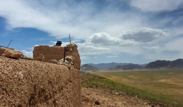 An Afghan security checkpoint on the outskirts of Tarin Kot, the capital of Uruzgan province, where boys recruited to police outposts for sexual companionshi...