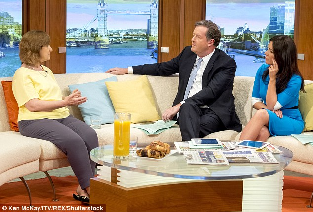 Piers Morgan (centre) said many people would find it 'distasteful' that she was making money from sales of a book about the case