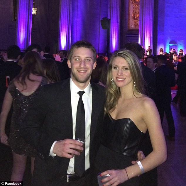 Austin Dodson met his 23-year-old girlfriend (pictured together) at Dickinson College in Pennsylvania