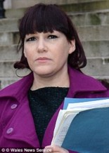 Ian Watkins was arrested in 2012 and jailed for 29 years in 2013 for child abuse but his ex-girlfriend Joanna Mjadzelics, pictured,  had first called Welsh social services about his child abuse in 2008
