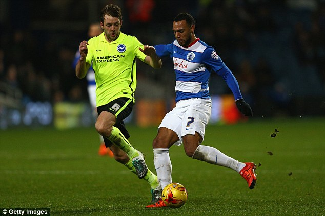 Queens Park Rangers winger Matt Phillips (right) is being chased by West Brom manager Tony Pulis