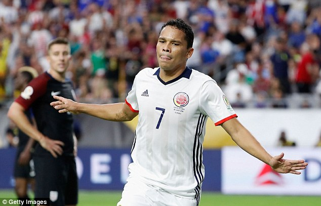 Carlos Bacca, who is currently playing for AC Milan, could arrive in the Premier League with West Ham