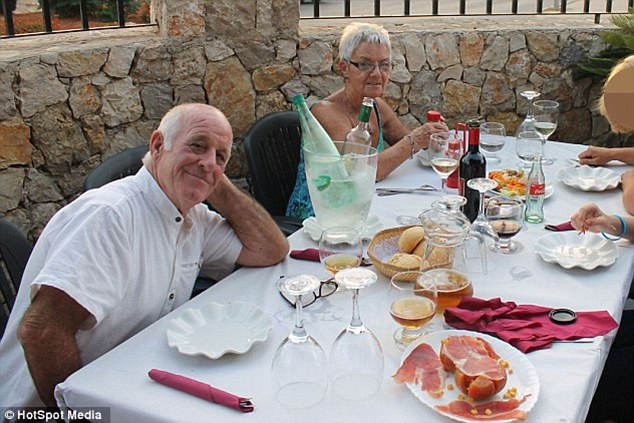 Tragic: David Tarsey and his wife Jean were murdered at their home in Spain by Driss Drizi in March last year