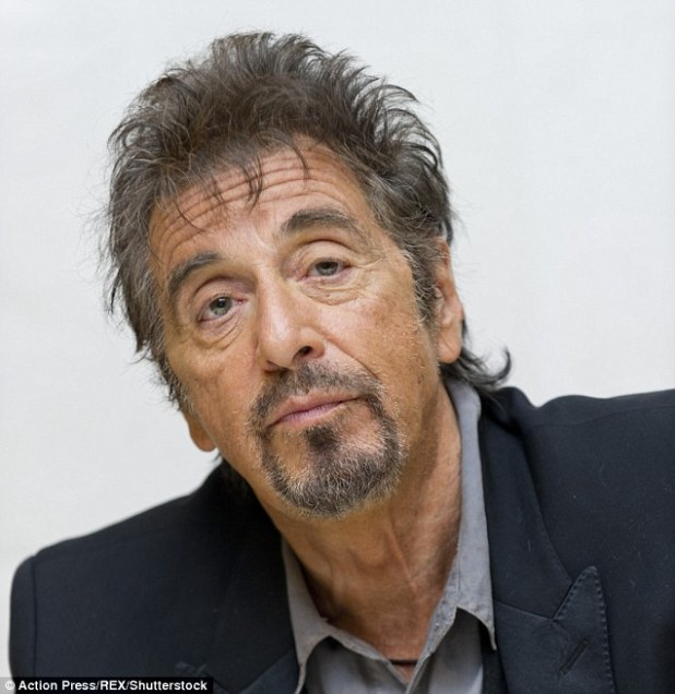 Pacino (pictured in 2015) rose to prominence playing protagonist Michael Corleone in the blockbuster Mafia film The Godfather