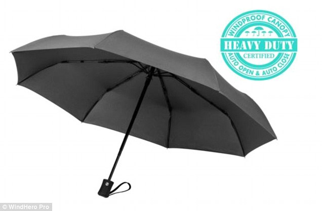 The WindHero Pro, which can withstand gales of up to 60MPH, won't break if it flips inside out, but is small enough to squirrel away in your bag