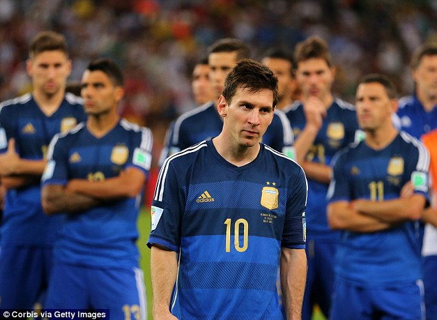 Argentina also lost out in the 2014 World Cup final when Germany scored in extra time to win 1-0