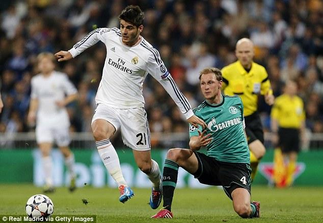 Spain striker Alvaro Morata made debut for Spanish giants in 2010 after progressing through Real's B team