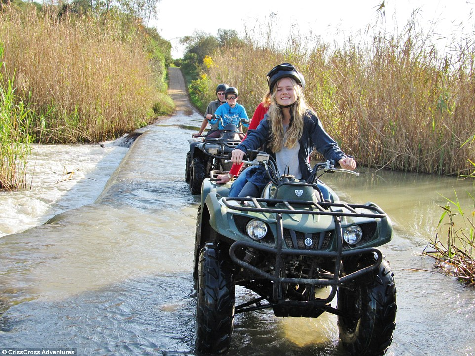 Extreme sportsmen will love exploring theSouth African undergrowth on anAutomatic Yamaha Grizzly quad bike