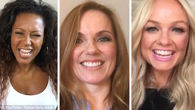 Five Become Three! Spice Girls (l-r) Mel B, Geri Horner and Emma Bunton have confirmed that they're reuniting as a trio now called GEM in a new clip uploaded to YouTube late Thursday
