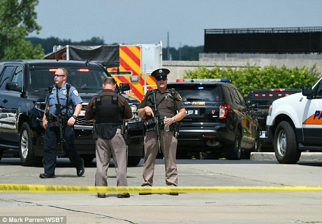 Berrien County Sheriff Paul Bailey said 'brave officers' took down the gunman, who was an in-custody inmate who had grabbed a deputy's weapon and started shooting