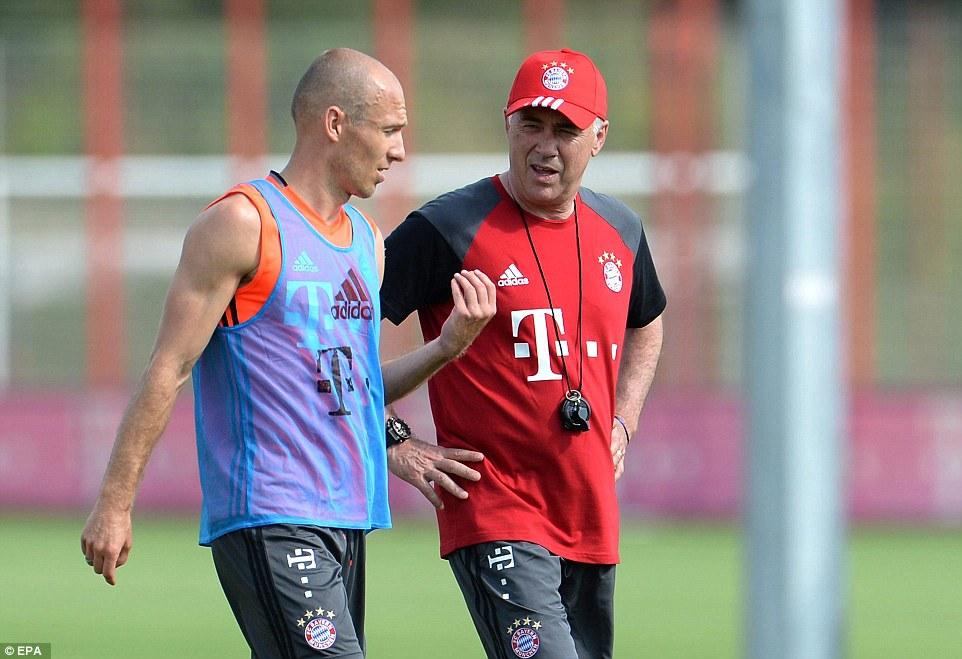 Image result for Robben Ancelotti Guardiola