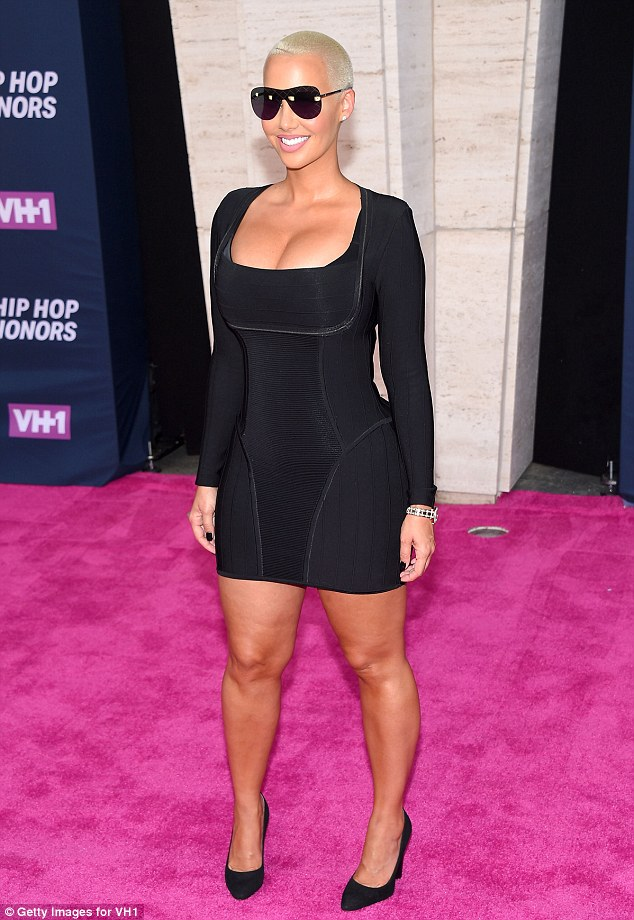Curvaceous: The 32-year-old modelstrutted her stuff down the pink carpet in an LBD as she made her way to the event held in the legendary Hammerstein Ballroom