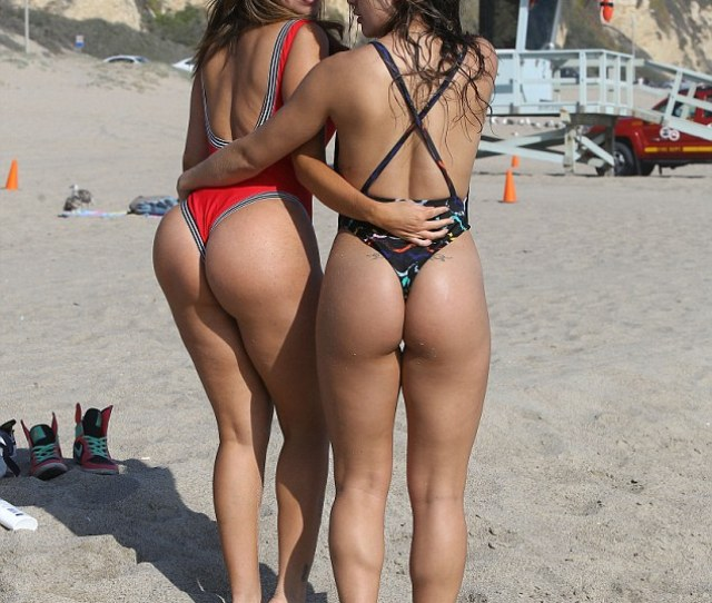 Double Trouble The Brazilian Bombshell Gave Beachgoers An Eyeful As She Posed Up Up A
